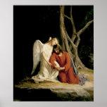 Carl Bloch Angel & Jesus Print