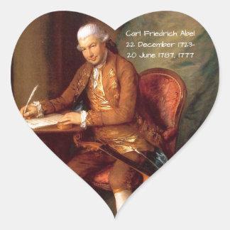 Carl Friedrich Abel Heart Sticker