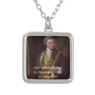 Carl Friedrich Abel Silver Plated Necklace