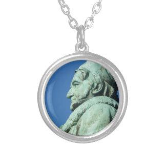 Carl Friedrich Gauß (Gauss), Braunschweig Silver Plated Necklace
