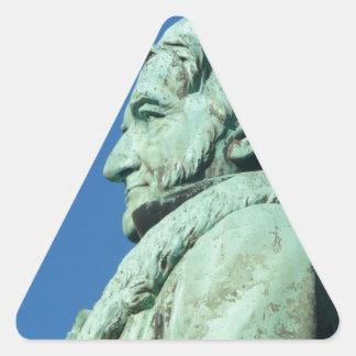 Carl Friedrich Gauß (Gauss), Braunschweig Triangle Sticker