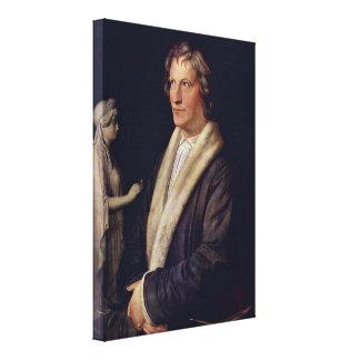 Carl Joseph Begas - Sculptor Bertel Thorvaldsen Canvas Prints