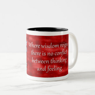 Carl Jung Wisdom Quote Two-Tone Coffee Mug