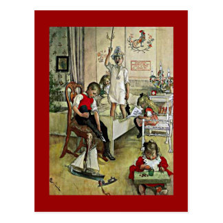 Carl Larsson art: Christmas Morning Postcard