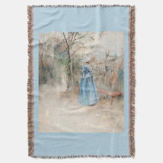 Carl Larsson Autumn Lady Blue Dress Throw