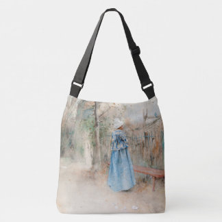Carl Larsson Autumn Lady Fall Leaves Tote Bag