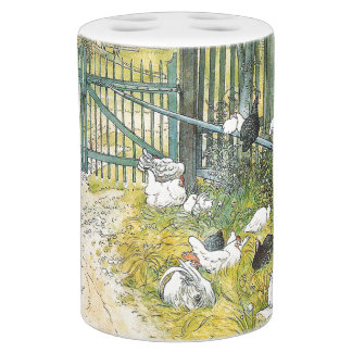 Carl Larsson Barnyard Farm Chickens Gate Bath Set
