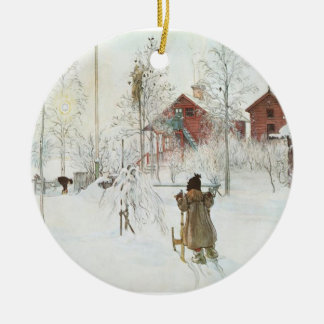 Carl Larsson Christmas in Sweden Ceramic Ornament