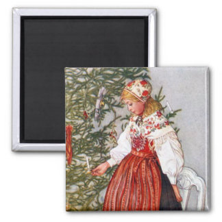 Carl Larsson Christmas Tree Fridge Magnet