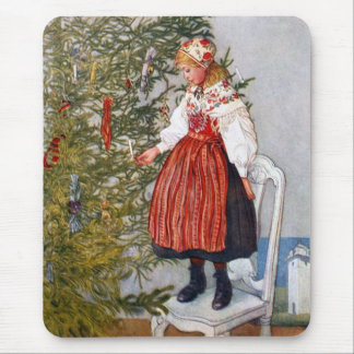 Carl Larsson Christmas Tree Mouse Pad Mousepad