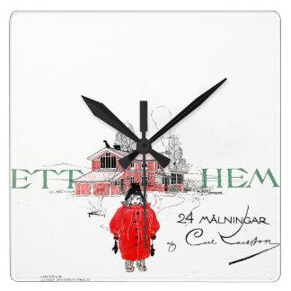 Carl Larsson Ett Hem Book Cover Wall Clock