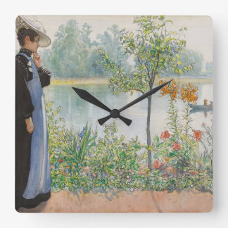Carl Larsson Karin Lake Boat Wall Clock