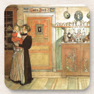 Carl Larsson Lady Baby Family Home Coaster