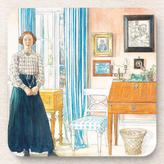 Carl Larsson Lady Family Home Coaster