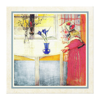 Carl Larsson Lilianna and the Crocus Canvas Print