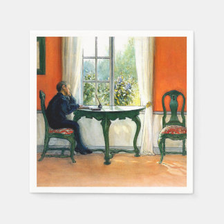 Carl Larsson - Required Reading Disposable Napkin