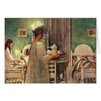 Carl Larsson St. Lucia Day Christmas in Sweden Card