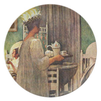Carl Larsson St. Lucia Day Christmas in Sweden Plate