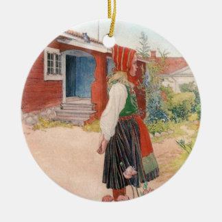 Carl Larsson  The Falun Home Round Ceramic Decoration