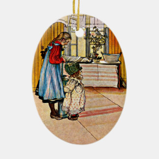 Carl Larsson - The Kitchen Ceramic Ornament