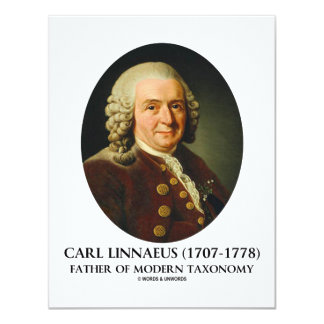 Carl Linnaeus Father Of Modern Taxonomy 11 Cm X 14 Cm Invitation Card