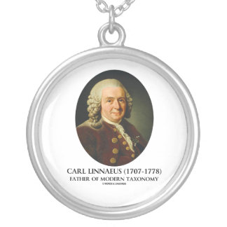 Carl Linnaeus Father Of Modern Taxonomy Round Pendant Necklace