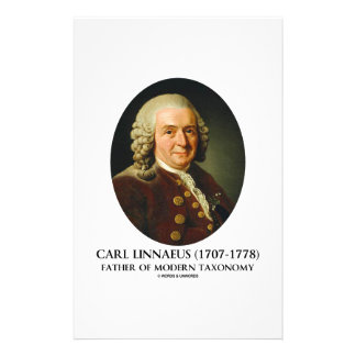 Carl Linnaeus Father Of Modern Taxonomy Stationery Design