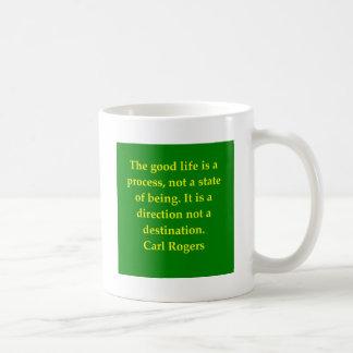 carl rogers quote coffee mug