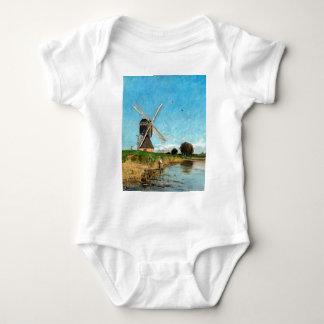 Carl Skånberg Landscape with Windmill Baby Bodysuit