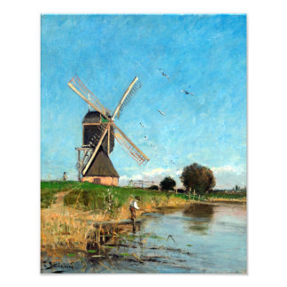 Carl Skånberg Landscape with Windmill Photo Print