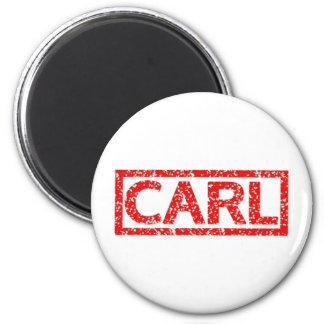 Carl Stamp 6 Cm Round Magnet