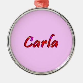 Carla accessories Silver-Colored round decoration