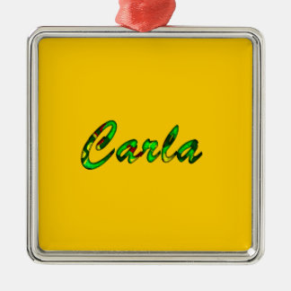 Carla accessories Silver-Colored square decoration