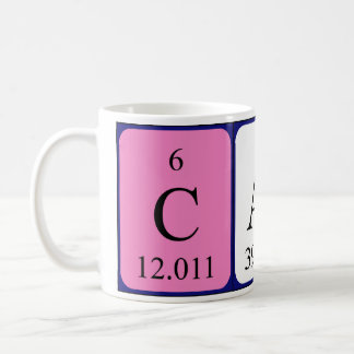 Carla periodic table name mug