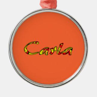 Carla's accessories Silver-Colored round decoration