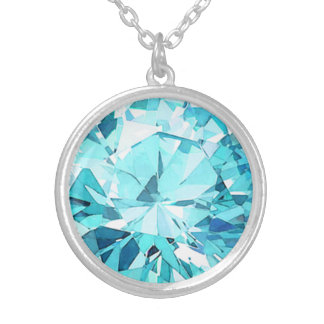 Carleigh's Faux March Birthstone Necklace