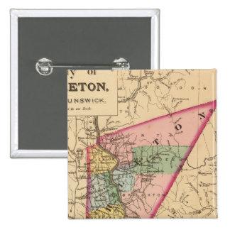 Carleton Co, NB 15 Cm Square Badge
