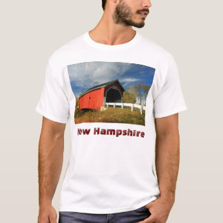 Carleton Covered Bridge Swanzey NH, New Hampshire T-Shirt
