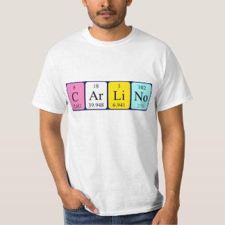 Carlino periodic table name shirt