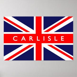 Carlisle UK Flag Print