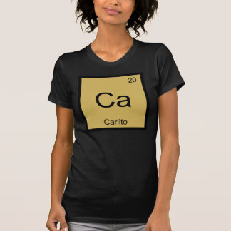 Carlito Name Chemistry Element Periodic Table T-Shirt