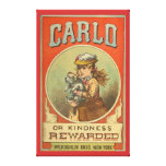 Carlo or Kindness Rewarded Vintage Book cover  Wra