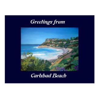 Carlsbad Beach - Postcard