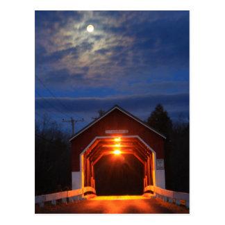 Carlton Covered Bridge Moonlight Postcard