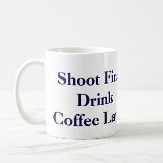 "Carlton Lasiter's ""Shoot First"" Mug- Psych Coffee Mug"