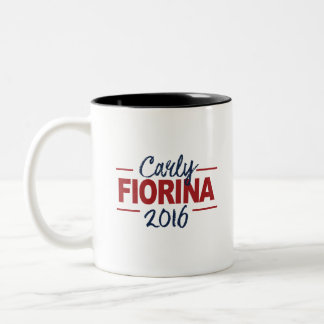 Carly Fiorina 2016 Campaign Sign Cursive Two-Tone Coffee Mug