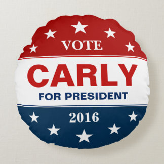 Carly Fiorina for President 2016 Vote Campaign Round Cushion
