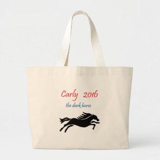Carly Fiorina for President Dark Horse Political Jumbo Tote Bag