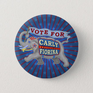 Carly Fiorina President 2016 Republican Elephant 6 Cm Round Badge