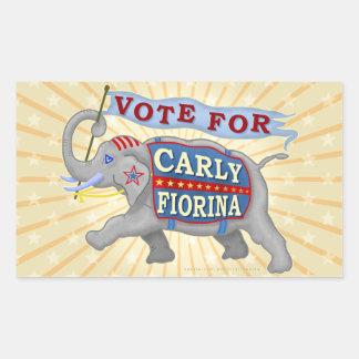 Carly Fiorina President 2016 Republican Elephant Rectangular Sticker